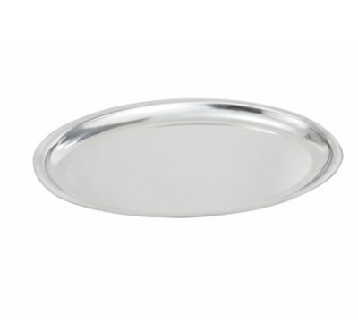 "Winco SIZ-11 11"" Oval Sizzling Platter, Stainless"