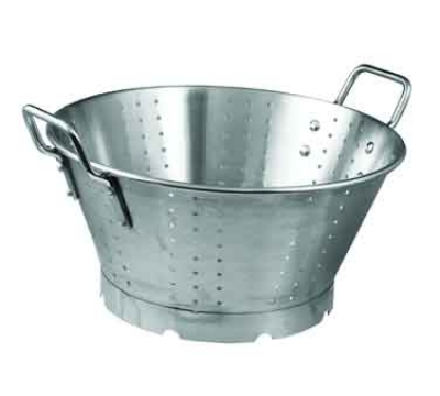 "Winco SLO-11 11-qt Heavy-Duty Colander w/ Medium-Size Holes, 15"" Round, Stainless"