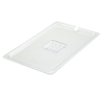 Winco SP7100C Poly-Ware Food Pan Cover, 1/1 Size, Slotted, Polycarbonate