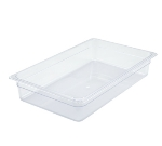 "Winco SP7104 Full-Size Food Pan, 4"" Deep, Break Resistant Polycarbonate"
