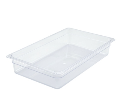 "Winco SP7104 Full-Size Food Pan, 4"" Deep, Break Resistant Polycarbonate"