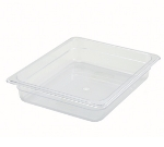 Winco SP7202 Half-Size Food Pan, 2.5-in Deep, Break Resistant Polycarbonate