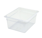 "Winco SP7206 Half-Size Food Pan, 6"" Deep, Break Resistant Polycarbonate"