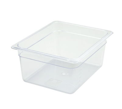 Winco SP7206 Half-Size Food Pan, 6-in Deep, Break Resistant Polycarbonate