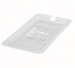 Winco SP7300C 1/3-Size Poly-Ware Food Pan Cover, Slotted, Polycarbonate