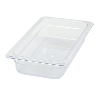 "Winco SP7302 1/3-Size Food Pan, 2.5"" Deep, Break Resistant Polycarbonate"