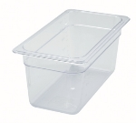 "Winco SP7306 1/3-Size Food Pan, 6"" Deep, Break Resistant Polycarbonate"