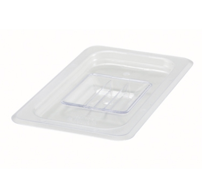 Winco SP7400S Poly-Ware Food Pan Cover, 1/4 Size, Solid, Polycarbonate