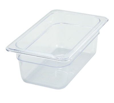 Winco SP7404 1/4-Size Food Pan, 4-in Deep, Break Resistant Polycarbonate