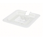 Winco SP7600C 1/6-Size Slotted Food Pan Cover, Polycarbonate