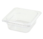 Winco SP7602 1/6-Size Food Pan, 2.5-in Deep, Break Resistant Polycarbonate