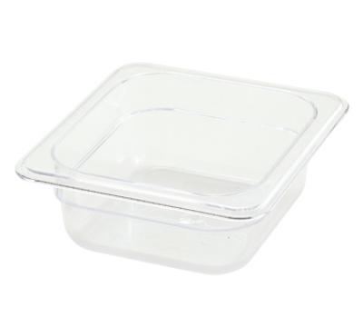 Winco SP7602 1/6-Size Food Pan, 2.5-in Deep, Break Resistant Polycarbonate