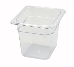 "Winco SP7606 1/6-Size Food Pan, 6"" Deep, Break Resistant Polycarbonate"