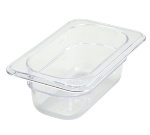 "Winco SP7902 1/9-Size Food Pan, 2.5"" Deep, Break Resistant Polycarbonate"