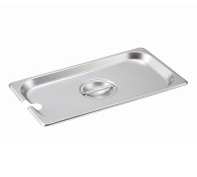 Winco SPCT Third-Size Steam Pan Cover, Stainless
