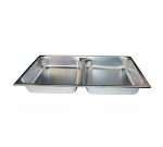 Winco SPFD2 Full-Sized Steam Pan, Stainless