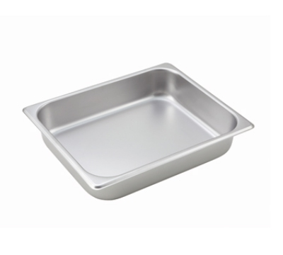 Winco SPH2 Half-Sized Steam Pan, Stainless