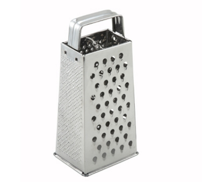 Winco SQG-1 Tapered Grater w/ Handle, 4 x 3 x 9-in, Stainless
