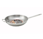 "Winco SSFP14 14.5"" Stainless Steel Frying Pan w/ Solid Metal Handle"