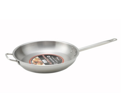 Winco SSFP14 14-in Round Master Cook Fry Pan w/ Aluminum Core, Stainless