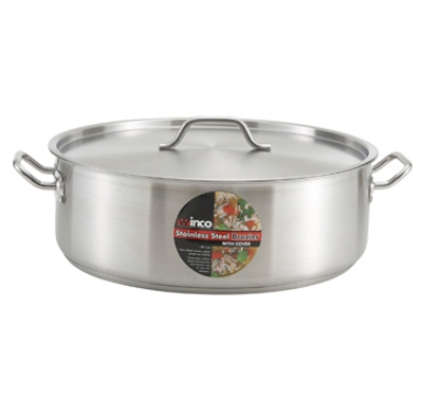 Winco SSLB-15 15-qt Brazier w/ Cover, Stainless