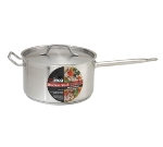 Winco SSSP-10 10-qt Saucepan w/ Cover - Induction Compatible, 18/8 Stainless