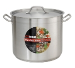 Winco SST-80 80-qt Stock Pot w/ Cover - Induction Compatible, 18/8 Stainless