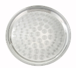 Winco STRS-12 12-in Round Swirl Service Tray, Stainless