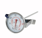 "Winco TMT-CDF2 2"" Candy Deep Fry Thermometer, Dial Type w/ Stem, Temp Range 100 to 400-F"