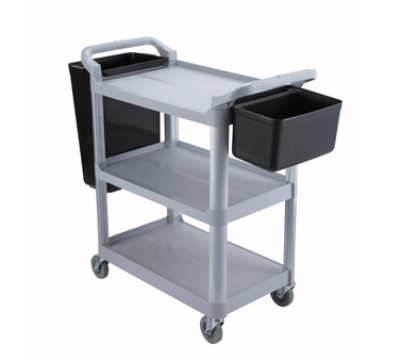 Winco UC-40G 3-Tier Utility Cart, Grey