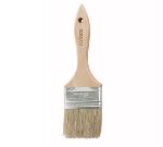 "Winco WBR-25 Flat Pastry Brush, 2.5"" Wide w/ Flat Boar Bristles & Wooden Handle"