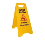Winco WCS-25 Wet Floor Caution Sign, 12 x 25-in, Yellow