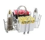 Winco WH-1 Condiment Holder w/ Chrome Plated Wire & Ball Feet, Center Clip