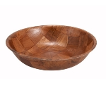 Winco WWB-6 6-in Round Salad Bowl, Woven Wood