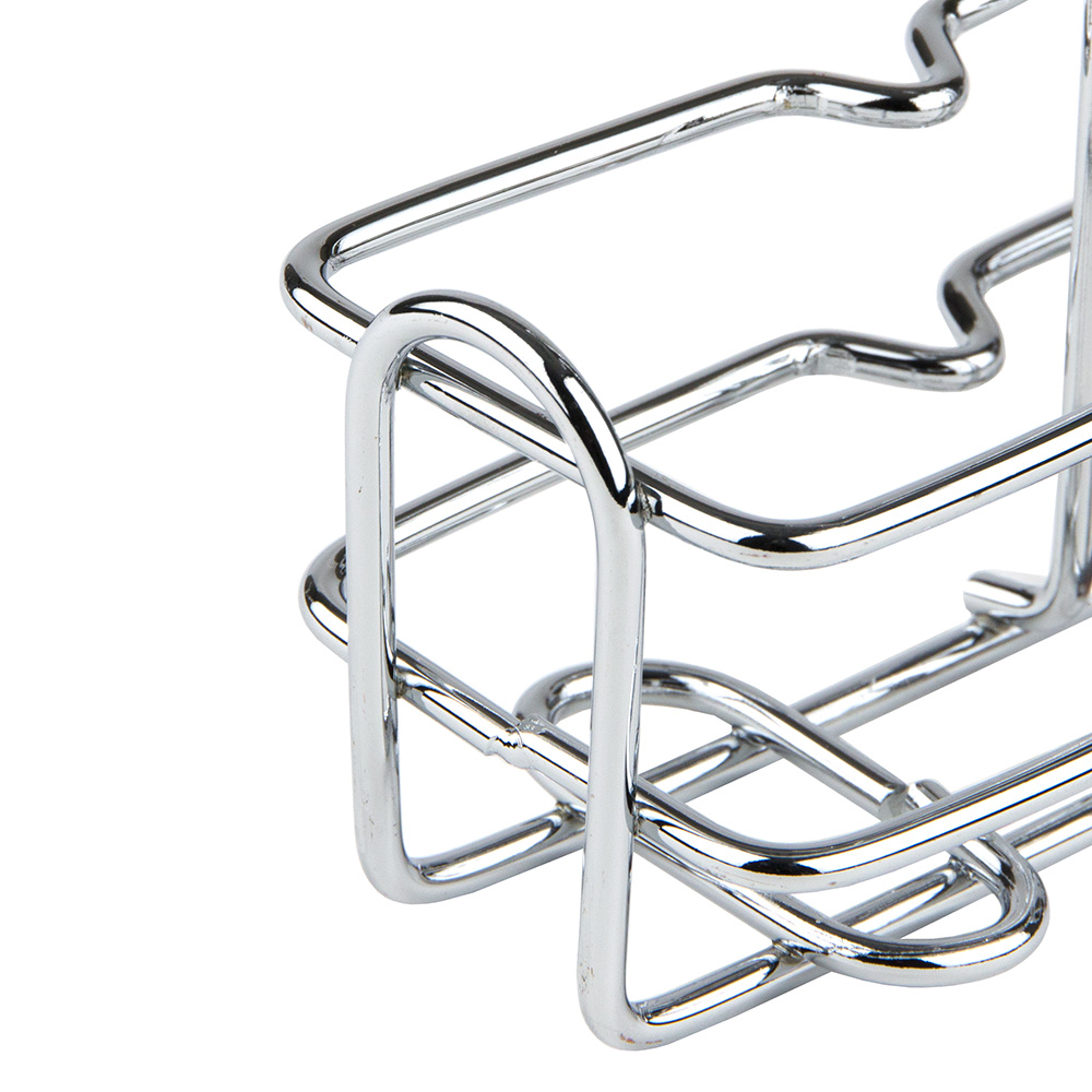Winco WH-3 Square Oil & Vinegar Holder w/ Chrome Plated Wire, Holds (2) 6-oz Containers