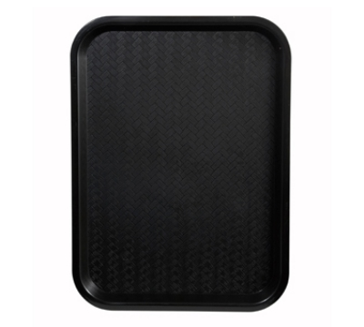 "Winco FFT1418K Fast Food Tray, 14 x 18"", Black"