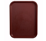 "Winco FFT-1216U Fast Food Tray, 12 x 16"", Burgundy"