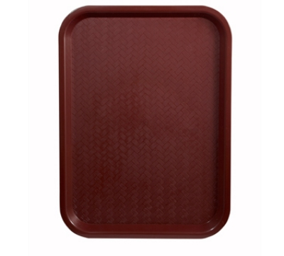 "Winco FFT-1418U Fast Food Tray, 14 x 18"", Burgundy"
