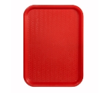 Winco FFT-1014R Fast Food Tray, 10 x 14-in, Red