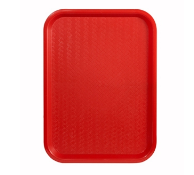 "Winco FFT-1014R Fast Food Tray, 10 x 14"", Red"
