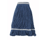 Winco MOP-24 Wet Mop Head w/ 24-oz Capacity & Blue Yarn, Looped End