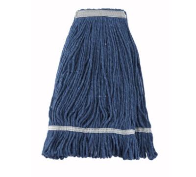 Winco MOP-24 Wet Mop Head w/ 24-oz Capacity & Blue Yarn, Looped End