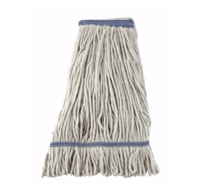 Winco MOP-24W 24-oz Wet Mop Head, White Yarn, Looped End