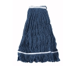 Winco MOP-32 Wet Mop Head w/ 32-oz Capacity & Blue Yarn, Looped End