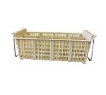 Winco PCB-8 8-Compartment Cutlery Basket w/ Handle, 17 x 8 x 6""