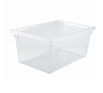 """Winco PFSF-12 17-ga Food Storage Box, 18 x 26 x 12"""", Polycarbonate, Clear"""
