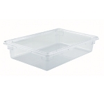 "Winco PFSF-6 8-gallon Food Storage Box, 18 x 26 x 6"", Polycarbonate, Clear"