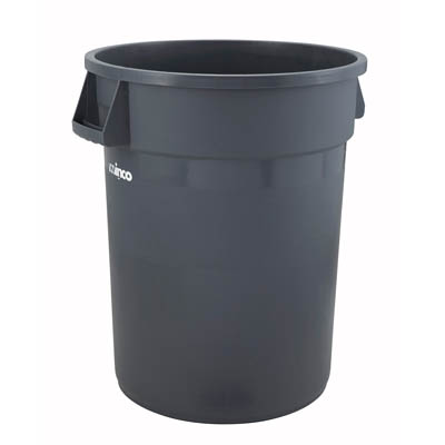 Winco PTC-32G 32-ga Trash Can, Grey