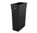 "Winco PTC-23K 23-gal Rectangle Slim Trash Can, 19.9""L x 11""W x 29.5""H, Black"
