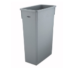Winco PTC-23SG 23-ga Slender Trash Can, Grey